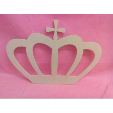 4mm Thick MDF Crown with cross